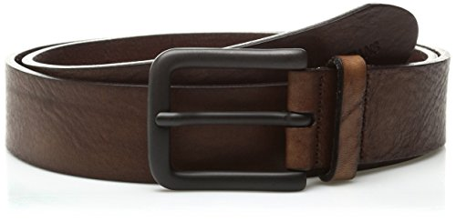 Armani Jeans Men's Tumbled Leather Belt, Brown, 33 (Armani Jeans Leather Belt)