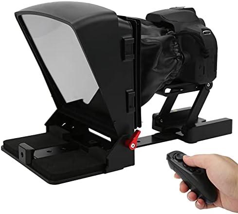 PUSOKEI Teleprompter portátil, Teleprompter de teléfono Inteligente con Control Remoto para teléfono/cámara/Tableta, apuntador de impresión de Video para iOS/Android