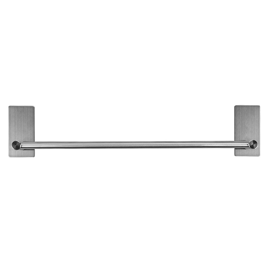 Sumnacon Self Adhesive Towel Bar Rack, 15.75 Inch Stainless Steel Bath Towel Holder Organizer for Bathroom Kitchen Bedroom, Contemporary Style Brushed Finish
