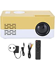 Projektor 1080P, Mini Projektor LED Full HD, Inteligentny Projektor Kina Domowego żółty Biały, Kompatybilny z IOS/Android/TV Stick/PS4/XBOX/PC, Obsługuje Rozdzielczość 1920X1080(EU)