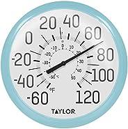 Taylor Precision Products Termômetro externo grande e ousado 6700SB, 33,6 cm, azul celeste