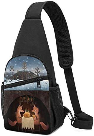 ボディ肩掛け 斜め掛け 冬の狐 ショルダーバッグ ワンショルダーバッグ メンズ 軽量 大容量 多機能レジャーバックパック