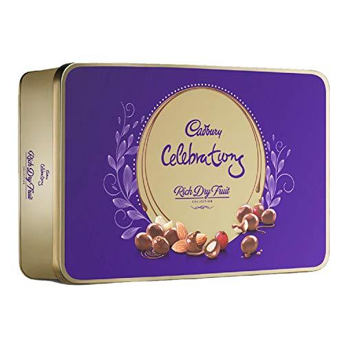 Cadbury Celebrations Rich Dry Fruit Chocolate Gift Box, 177 g & Cadbury Bournville Rich Cocoa Dark Chocolate Bar, 80 gm (Pack of 5) 2