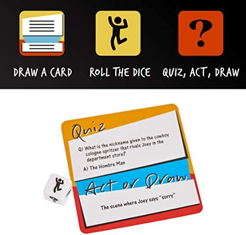 Friends TV Show Quiz Act or Draw Game Officially Licensed Friends Merchandise