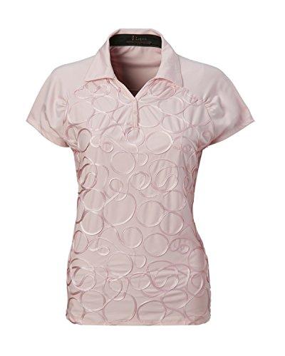 Women's Nancy Lopez Ribbon Golf Polo (1X, Peony Pink)