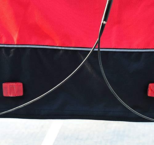 HOMCOM 2 in 1 Jogger Kinderanh/änger Fahrradanh/änger Kinder Radanh/änger mit Fahne Rot-Schwarz