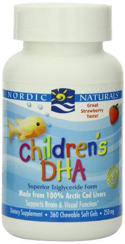 Nordic Naturals, DHA enfants 250 mg saveur de fraise par Nordic Naturals - 360 croquer Gels mous