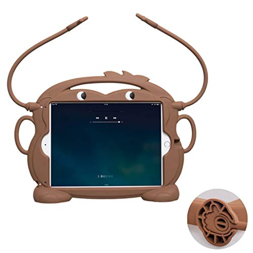UMFunKid friendly Carry Silicone Washable Stand Tablet Case for iPad mini 1/2/3/4/5 (Brown) -