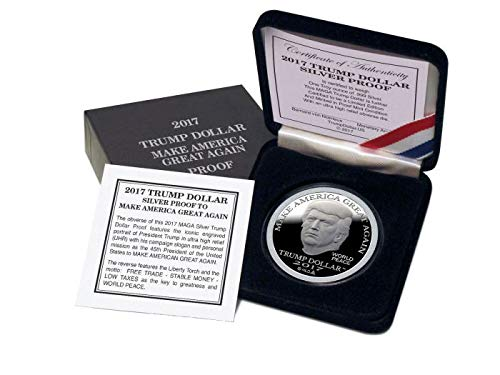 2017 PROOF DONALD TRUMP MAKE AMERICA GREAT AGAIN SILVER DOLLAR COIN $25 1 TROY OZ. 999 $25 Perfect Uncirculated
