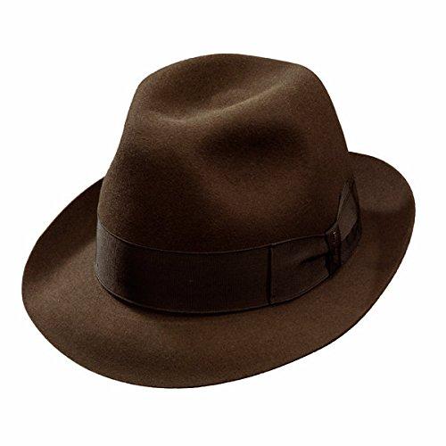 187b3ebe719 borsalino francesco fur felt fedora brown at amazon men s clothing rh  amazon com
