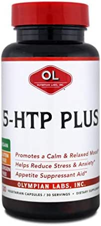 Olympian Labs 5 Htp Plus, 100mg, 30 capsules. (Pack of 2)