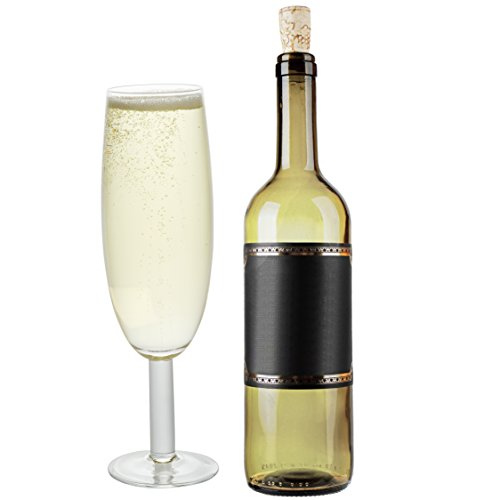 Giant Champagne Glass - SCS Direct New Year's Extra Large Giant Champagne Flute Glass - 25oz - Holds about a full bottle of champagne