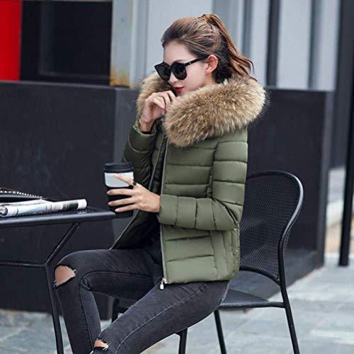 Longues Capuche Doudoune Femme Hiver Chic en Slim El Fourrure Doudoune Manches Chaud Fausse Manteau Mode Fit qET0xwxC