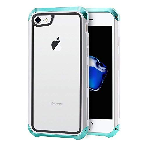 iPhone 7 Case, iPhone 8 Case, Metal Drop Protection, Anti-Scratch Cover Case with Screen Protector Compatible with Apple 4.7\