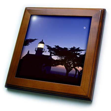3dRose Danita Delimont - Lighthouses - Point Pinos Lighthouse, Pacific Grove, Monterey, California - 8x8 Framed Tile (ft_314722_1) ()