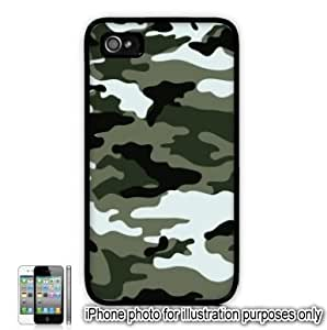 Green Gray Camo Camouflage Print Apple iphone 5 5s Case Cover Skin Black