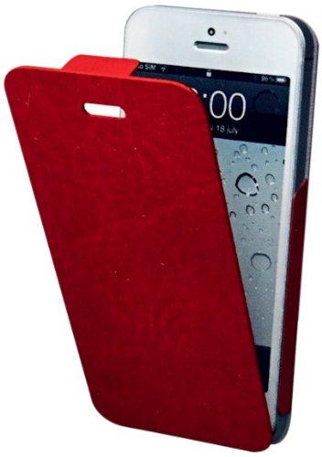 Muvit Snow Slim iPhone 5 Libro Negro - Fundas para teléfonos móviles (Libro, Apple, iPhone 5, Negro) rojo