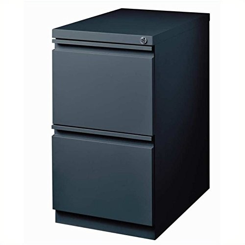 Pemberly Row 2 Drawer Mobile File Cabinet in Charcoal by Pemberly Row