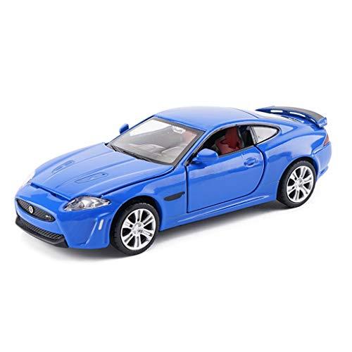 - Jaguar XKR-S Car Model 1:32 Scale Model Die-Casting Model Static Model Toy Model Collection Ornaments Gifts (Color : Blue)