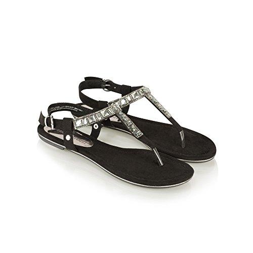 Marco Tozzi 2-2-28112-28/001 - Sandalias de vestir para mujer negro