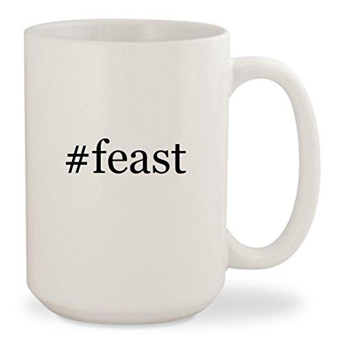 #feast - White Hashtag 15oz Ceramic Coffee Mug Cup - Nigella Lawson Ceramic