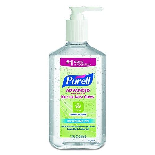 Purell 3691-12 12-Ounce Bottle Green Certified Instant Hand Sanitizer (12 per Case) (Purell 12 Oz Pump Bottle)