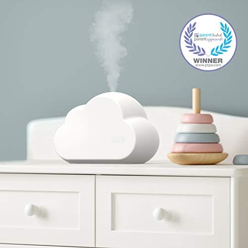 41MVWVJW8SL. AC - Pure Enrichment® MistAire™ Cloud - Ultrasonic Cool Mist Humidifier Lasts Up To 24 Hours, 8-Color Night Light For Child Or Baby, Variable Mist, Whisper-Quiet Operation For Nursery Or Bedroom, BPA Free
