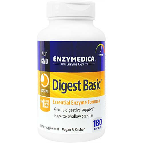 Enzymedica - Digest Basic, Essential, Full Spectrum Digestive Enzymes, 180 Capsules (FFP)