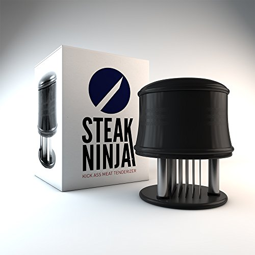 Steak Ninja Meat Tenderizer 56 Stainless Steel Blades for Faster Marinating & Cooking Times