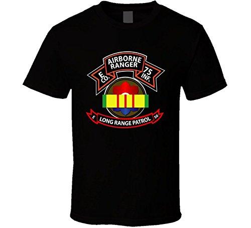 (XLARGE Vietnam - E Co 75th Ranger - 9th Infantry Division - VN Ribbon - LRSD - Black)