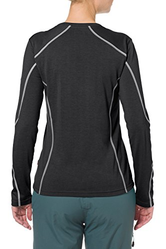 VAUDE T-Shirt Womens Troms Long Sleeve Shirt - Top de manga larga de fitness para mujer negro