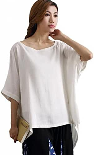 Mordenmiss Women's Summer Tee Shirt Oversized Top