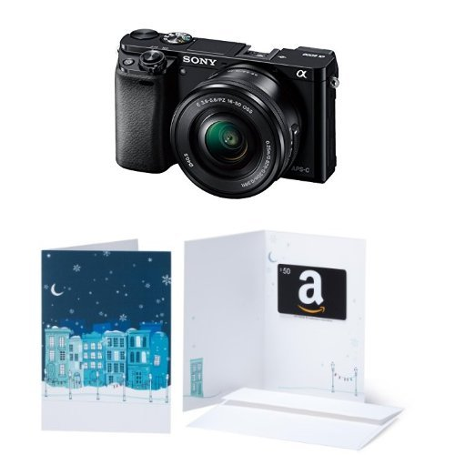 Sony Alpha a6000 Mirrorless Digital Camera with 16-50mm Power Zoom Lens w/ $50 Gift Card by Sony