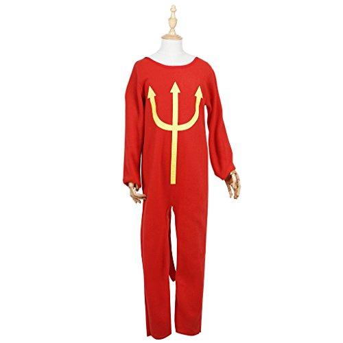 FantastCostumes Boys Devil Pajama Costumes Hallowenn Costumes Set(Red, L) (Devil Dress Up)