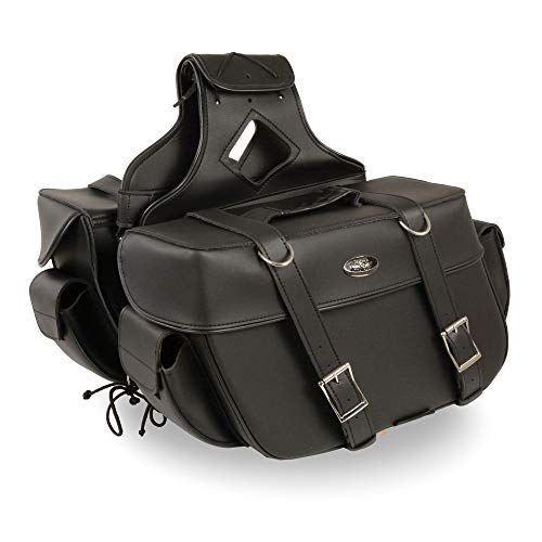 - Milwaukee Performance SH57401ZB Black Large Zip-Off PVC Throw Over Two Strap Saddle Bag