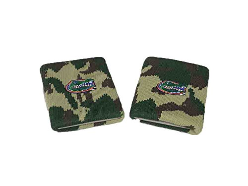 Bare Feet Embroidered Headband - Florida Gators Camo Wristbands ( Choose Color ) (Woodland)