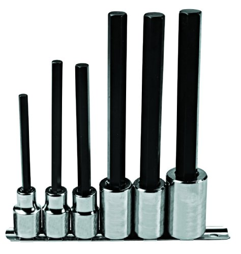 Stanley Proto J5441-6XL 1/2-Inch Drive 6-Piece Extra Long Hex Bit Set