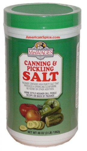 Mrs. Wages Pickling & Canning Salt, Non-iodized, Bulk, 48 oz