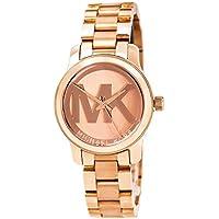Michael Kors Women 's Mini Pista Rose Gold-Tone pulsera de acero inoxidable reloj 33mm mk3334