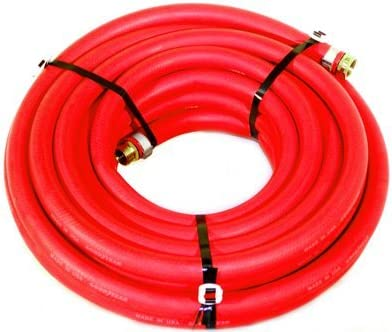 Heavy Duty USA Water Hose Continental ContiTech 1//2 x 75/' RED RUBBER Industrial 200psi with Brass Fittings