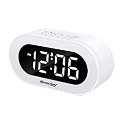 REACHER Small LED Digital Alarm Clock wi...