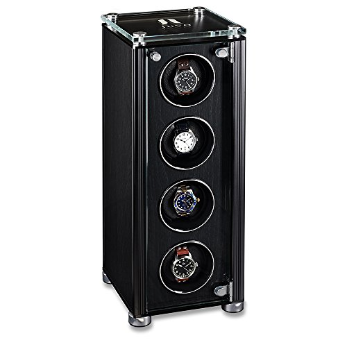 Quad Automatic Watch Winder For Men's Automatic Watches, JUVO M4 Black by Juvo