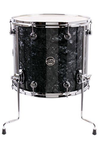 Drum Black Lacquer (DW Performance Series Floor Tom - 14x16 - Black Diamond Finish Ply)