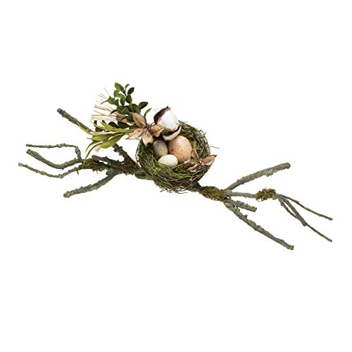 Darice 30071936 Moss Birds Nest Decor with Branches: 21 inches, Multicolor