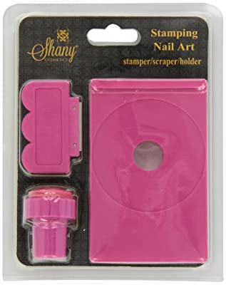SHANY Stamping Nail Art Set (Nail Art Image Plate Holder, Scraper, Stamper)