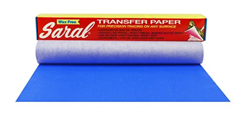 Saral Wax Free Transfer Paper - Blue - 12 inches x 12 foot Roll ()