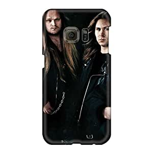 Scratch Resistant Cell-phone Hard Covers For Samsung Galaxy S6 With Unique Design Vivid Morbid Angel Band Skin JohnPrimeauMaurice