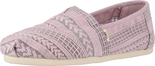 TOMS Women's Alpargata Burnished Lilac Arrow Embroidered Mesh 6.5 B US (Shoe Embroidered Women Flat)
