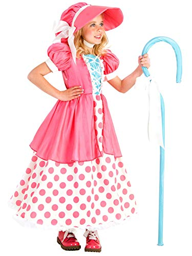 Princess Paradise Polka Dot Bo Peep Costume, Multicolor, Small/6