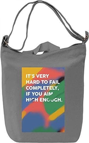 Aim high Borsa Giornaliera Canvas Canvas Day Bag| 100% Premium Cotton Canvas| DTG Printing|